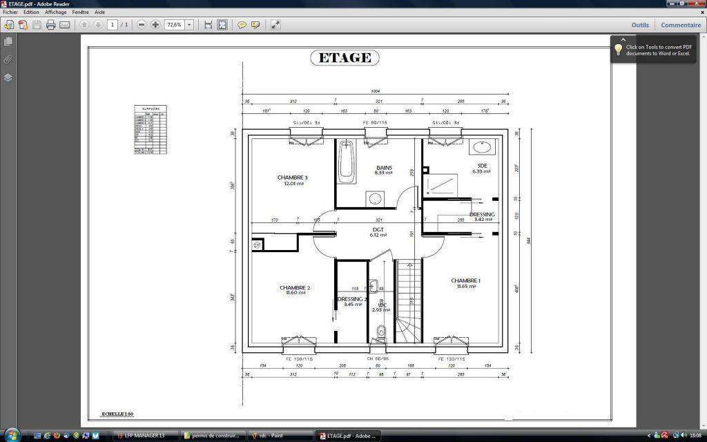 Voici le plan de notre etage
