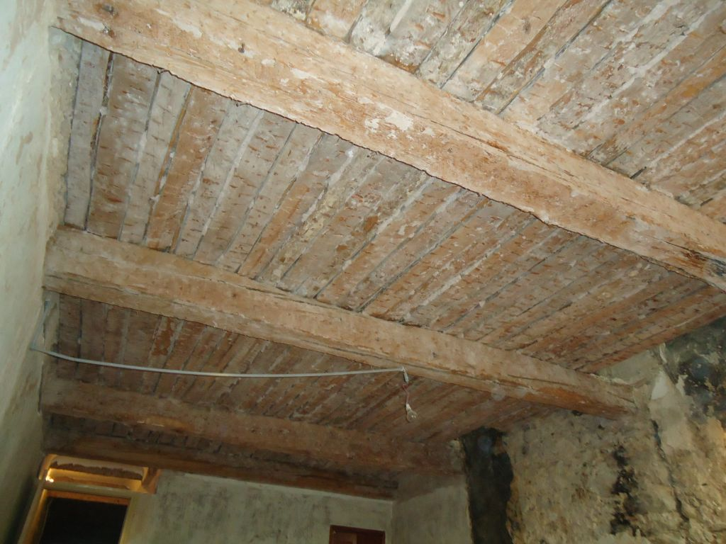 Plafond chambre sud 1er