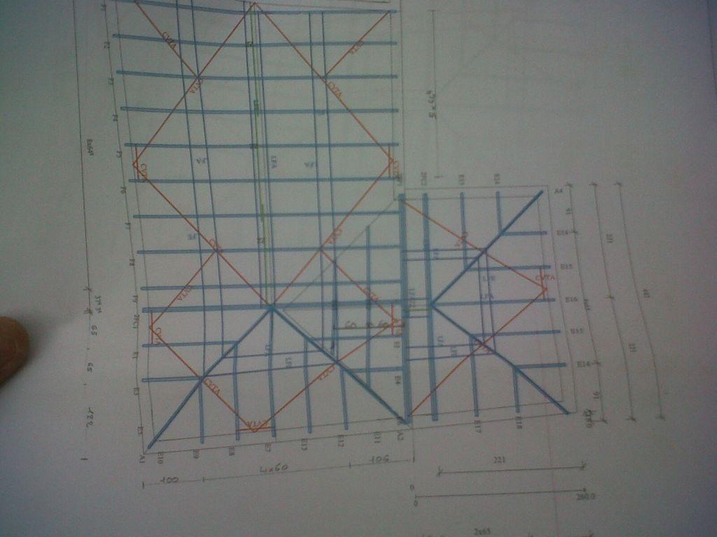 Plan de la toiture