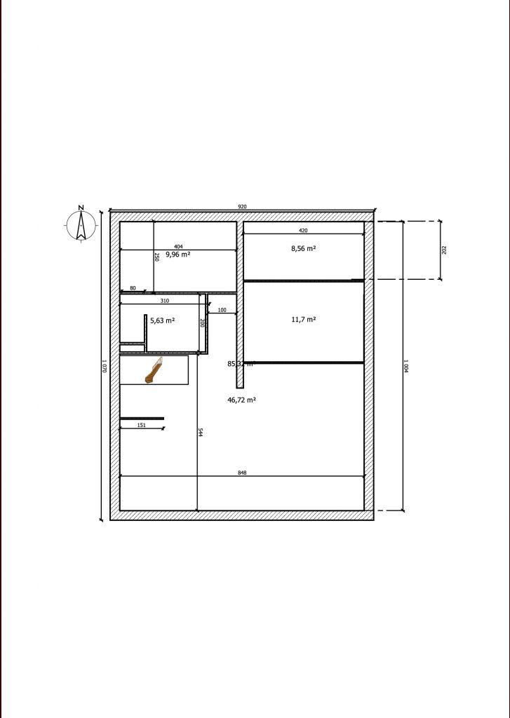 Plan de la maison effectué sur Sweet Home 3D