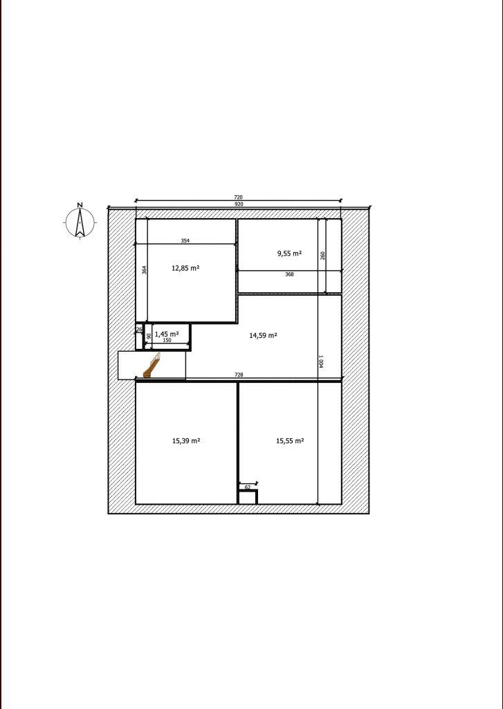 Plan des combles effectué sur Sweet Home 3D