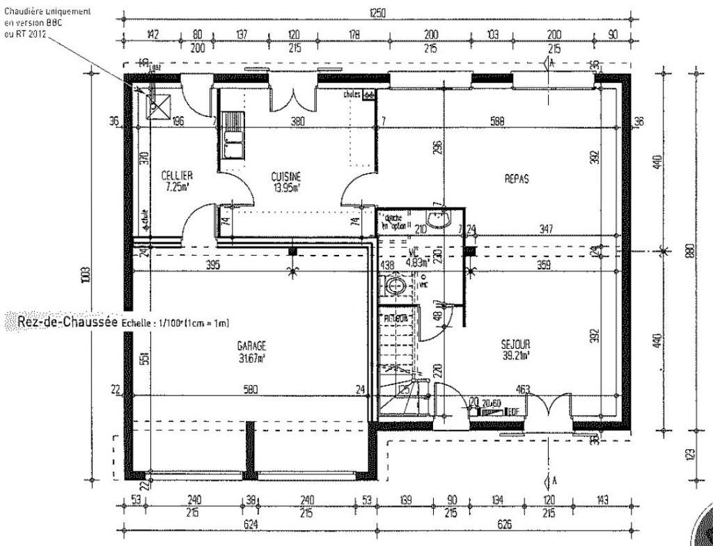 #202020 MAISONS PIERRE Modèle CHRISTAL 4.129 GI BBC St Ouen L  3057 plan suite parentale 20m2 1024x784 px @ aertt.com