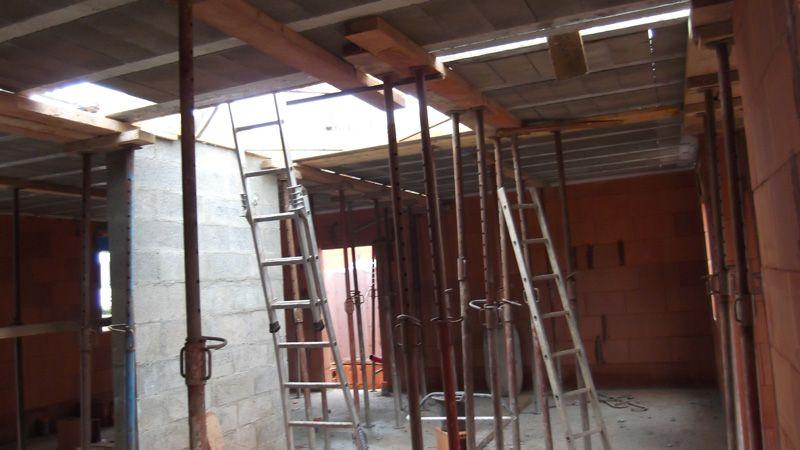 Préparation de la dalle de l'étage