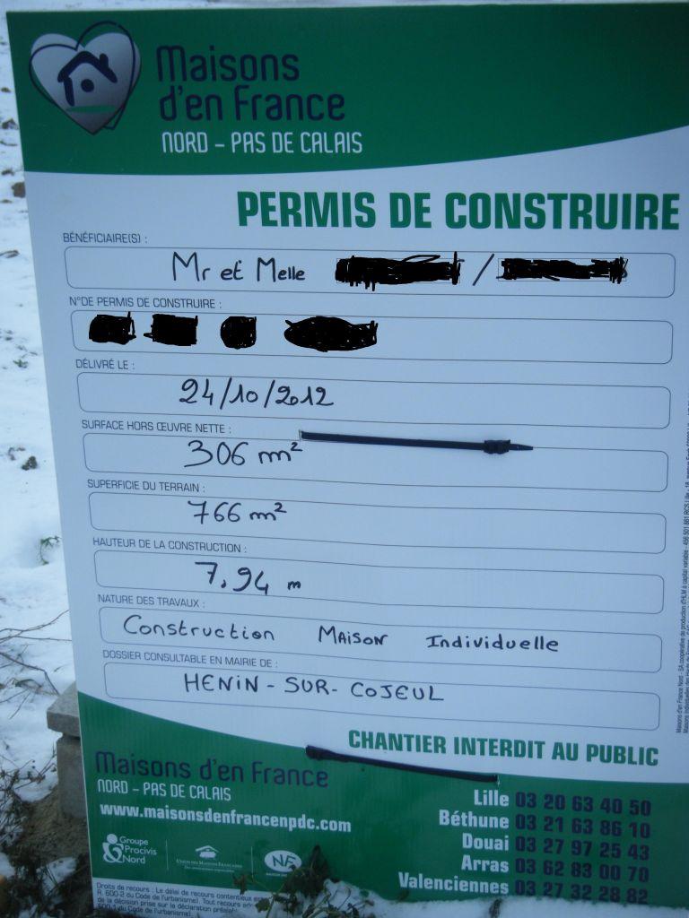 Permis de construire pos acces chantier jalons pos s henin sur cojeul - Forum permis de construire ...
