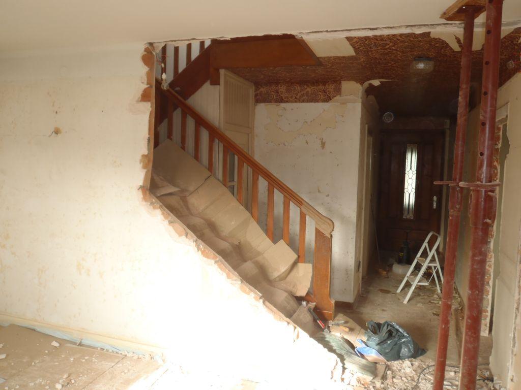 APRES ouverture cloison escalier