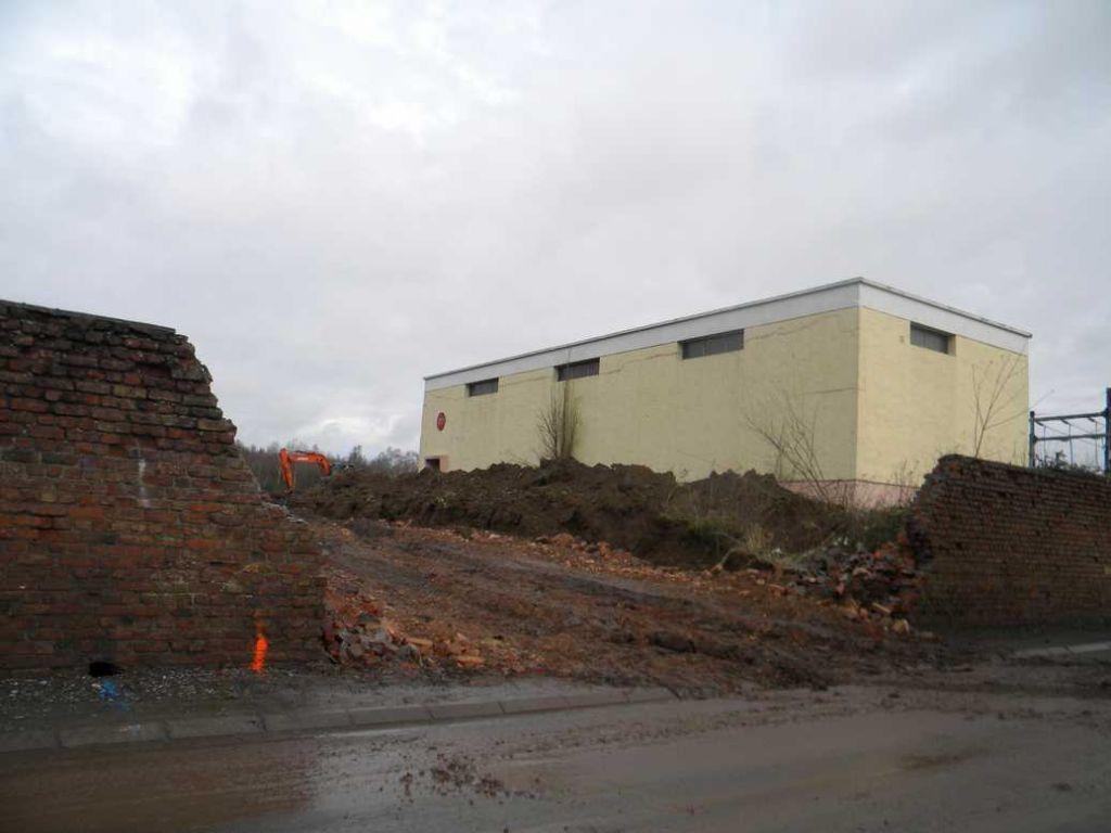 début des travaux au niveau de la première entrée de la résidence située vers le centre ville de biache saint vaast.