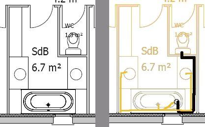 Plan d 39 39 vacuation des eaux us es dans salle de bain 9 - Plan evacuation eaux usees maison ...