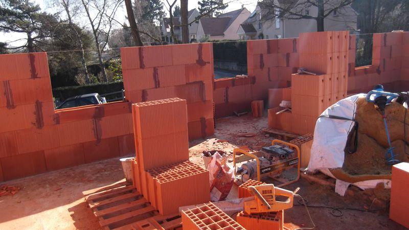 Élévation des murs de l'étage