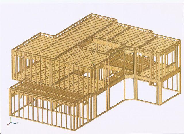 L'ossature de la maison : 38m3 de bois