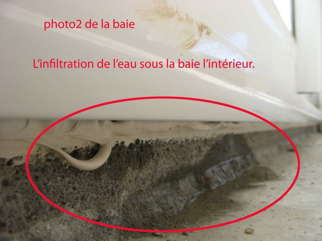 Comment r parer l infiltration d eau sous les baies vitr es 36 messages - Infiltration eau plafond appartement ...