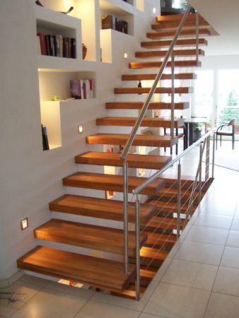 Escalier en bois - Haut Rhin (68) - mars 2013