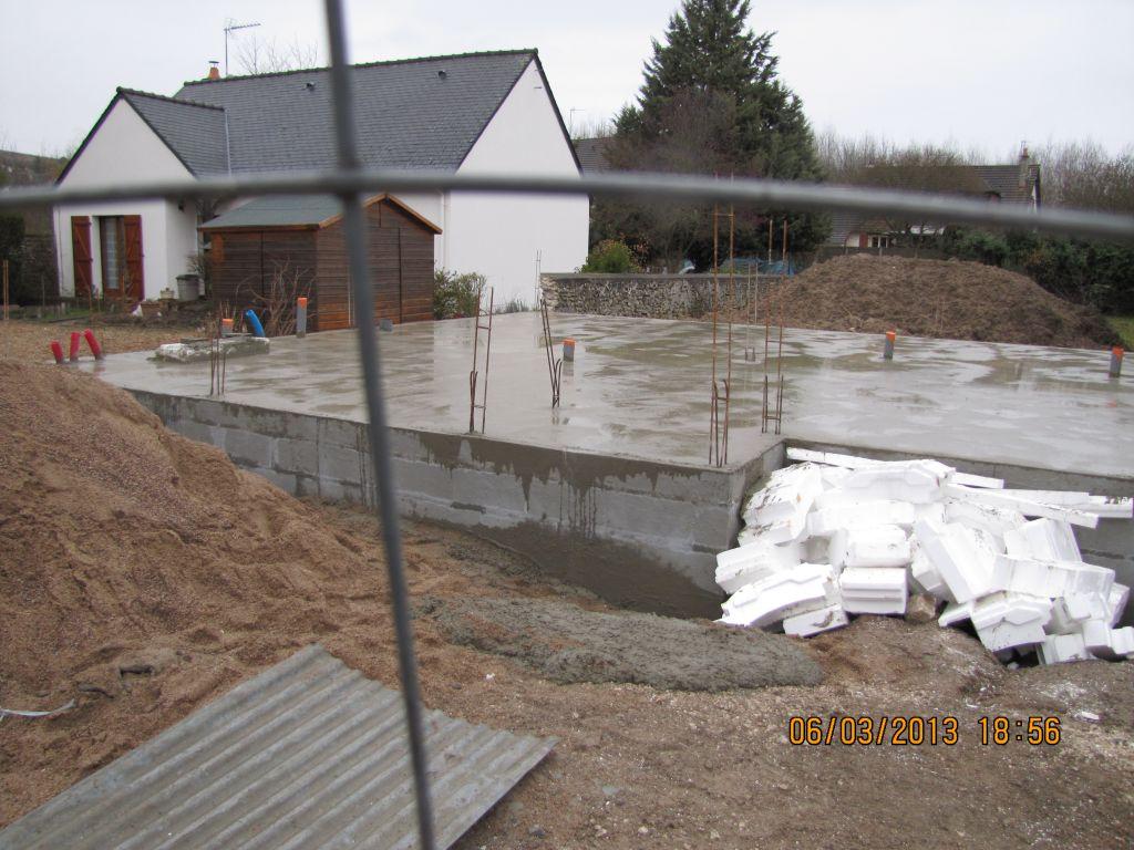 et voilà le plancher de notre maison !!