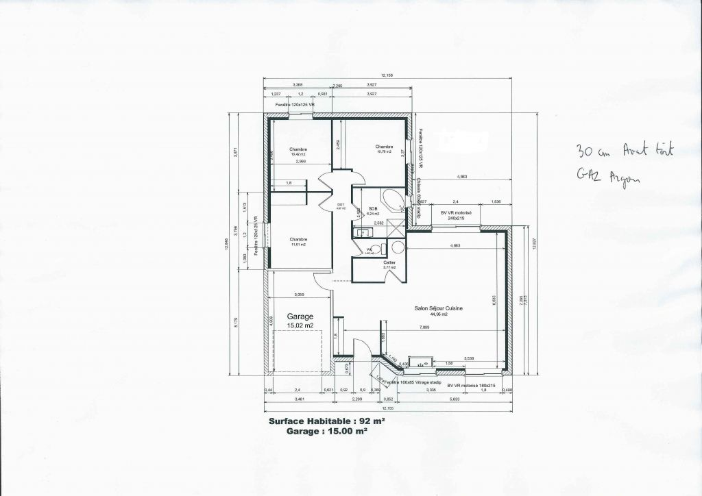 Avis sur plan de maison plain pied de 92 m2 25 messages - Plan de maison original ...