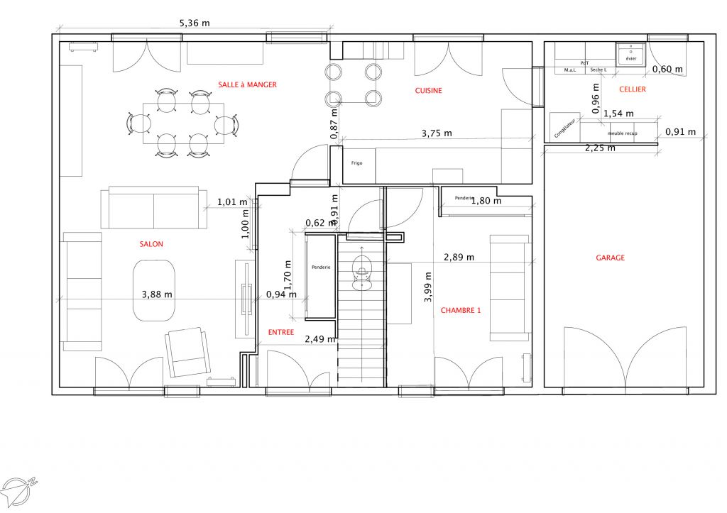 Plan De Maison Tage 4 Chambres. Excellent Maison A Etage Meuble With
