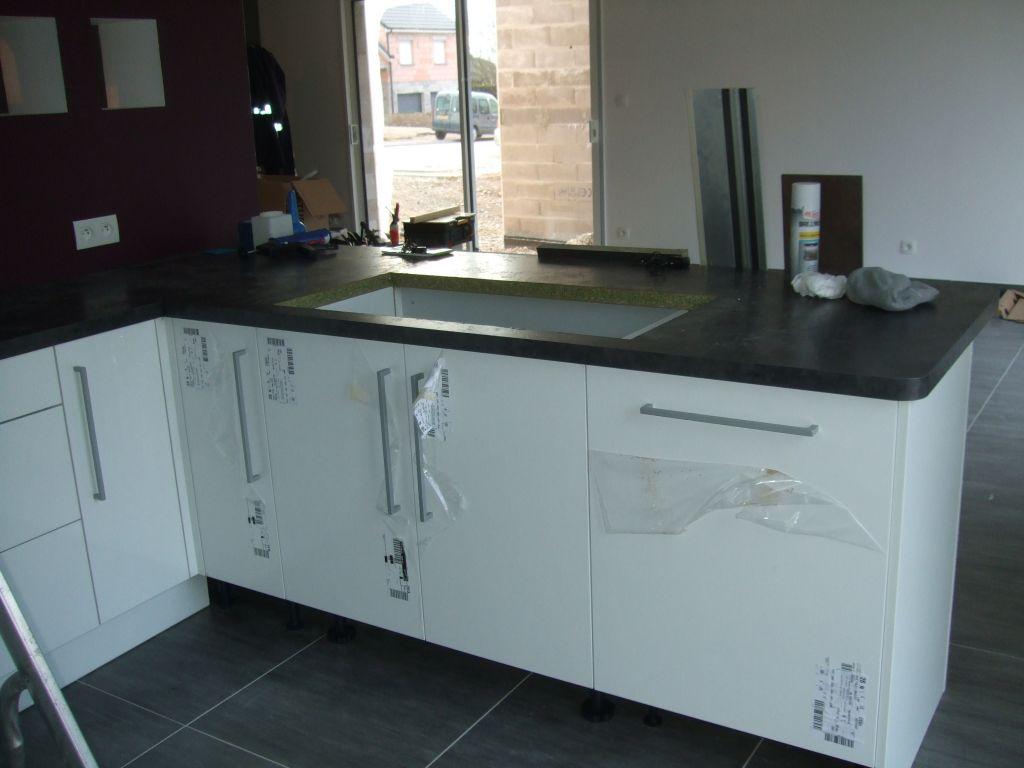 Peinture cuisine meuble salle de bain sommerviller for Prix installation cuisine