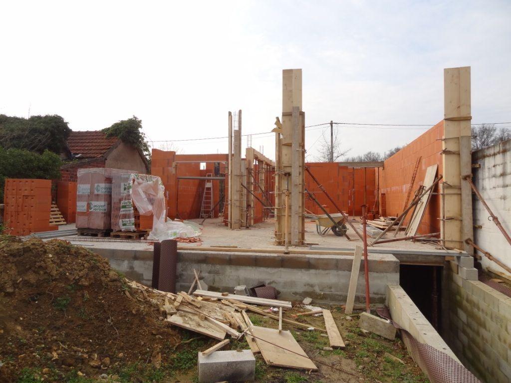 Murs du RdC coté jardin