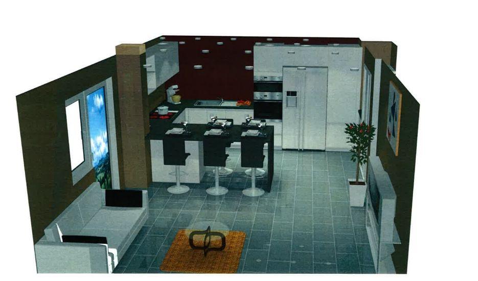 plan cuisine en u cuisine noir et blanche ouverte en u. Black Bedroom Furniture Sets. Home Design Ideas