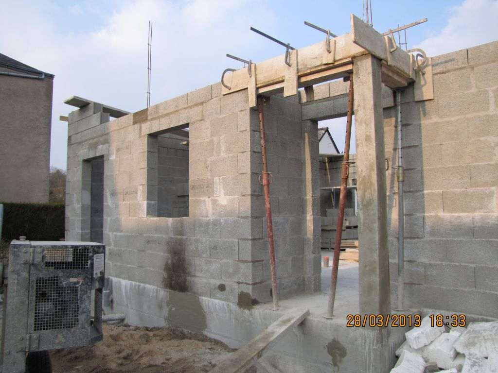 chaînage et élévation des murs