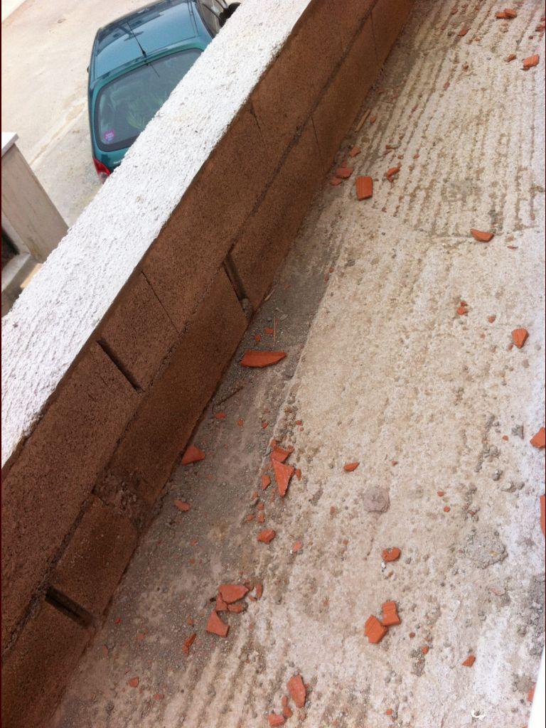 Visite chantier. <br /> un toit terrasse toujours pas fait.