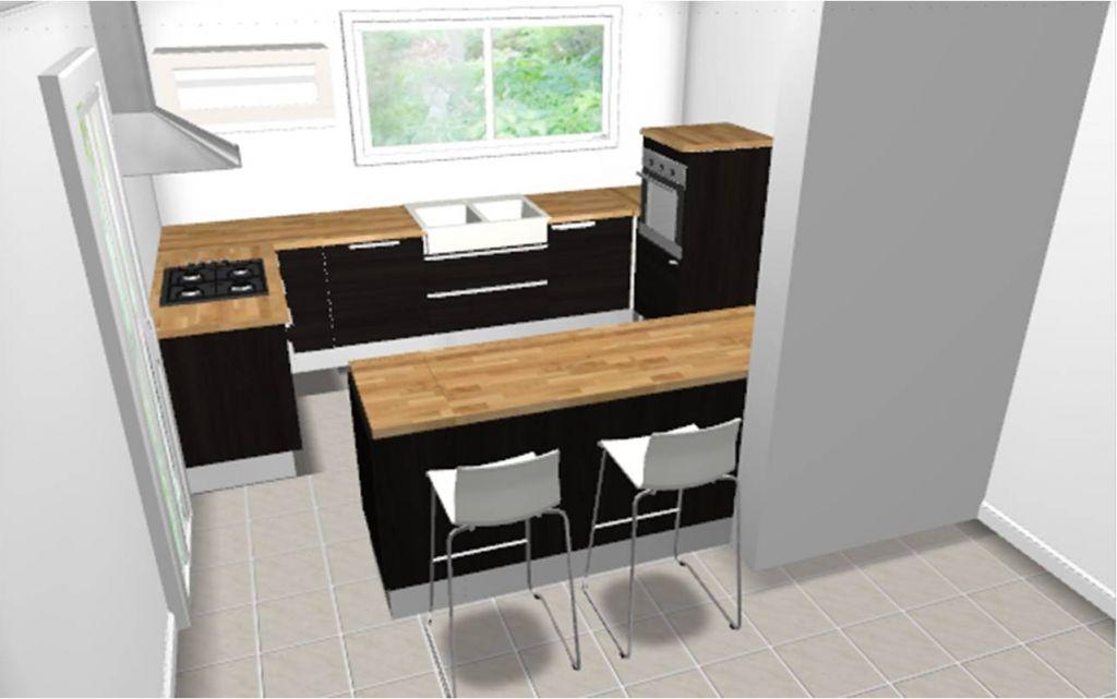 Les projets implantation de vos cuisines 8700 messages page 317 for Comcolonne angle cuisine