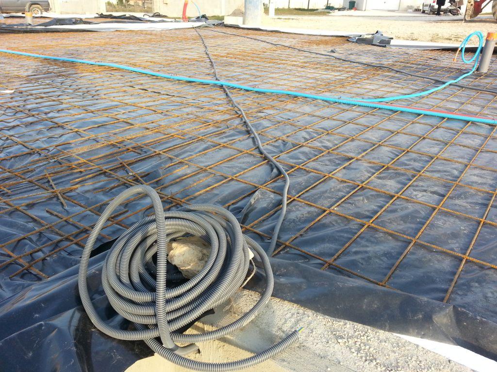 alimentation électricité pour future terrasse