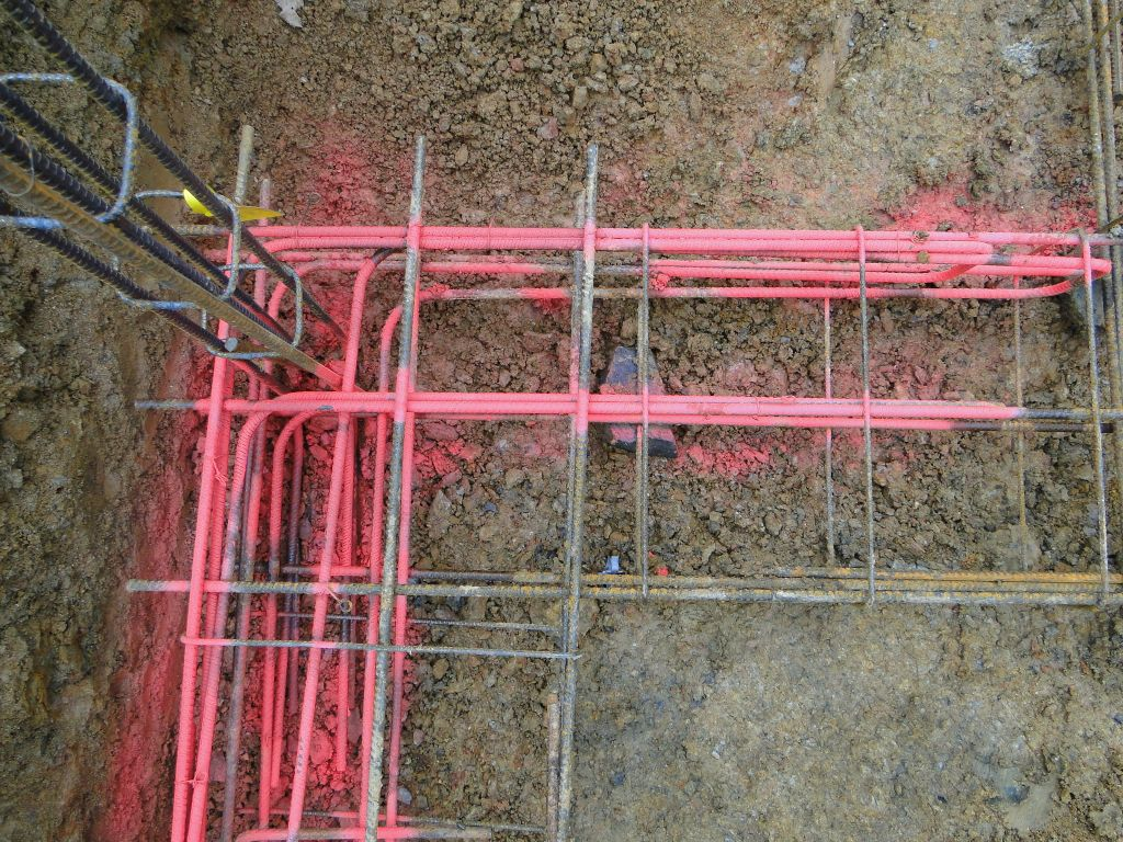 Ferraillage des fouilles avec équerres de jonction et ATC soubassement