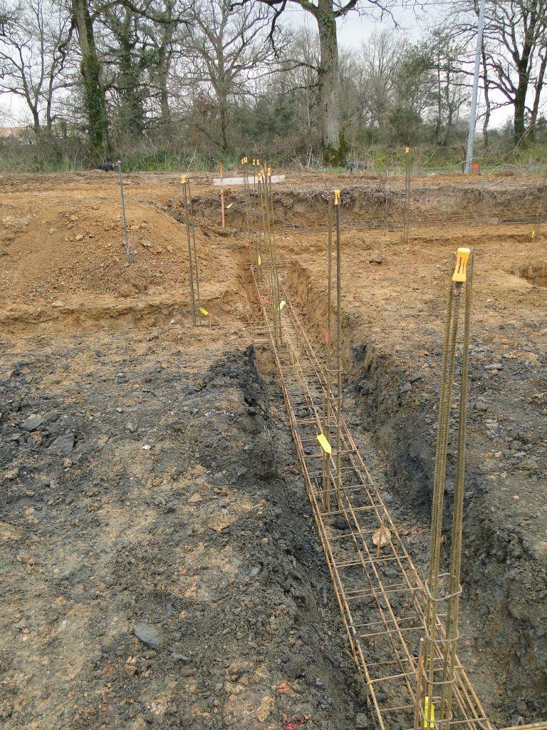 Ferraillage des fouilles angle cuisine et étage
