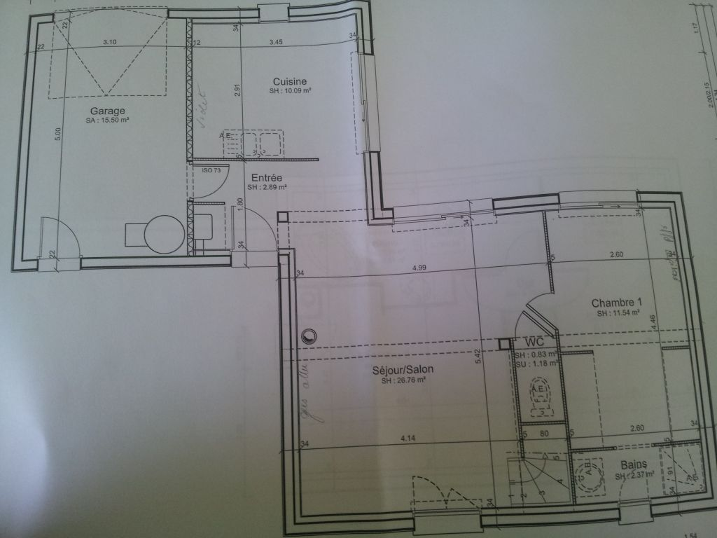 Voici les plans du rez de chaussée