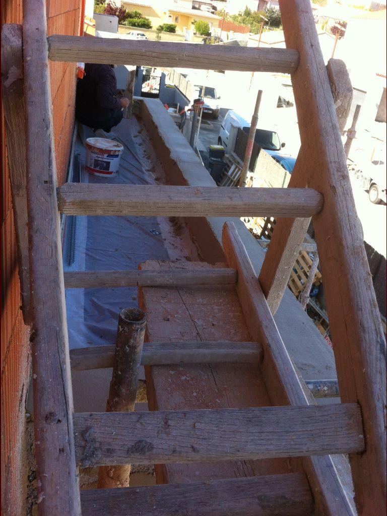 Enfin un toit terrasse fini. <br /> Mais protégé pour l'enduit.