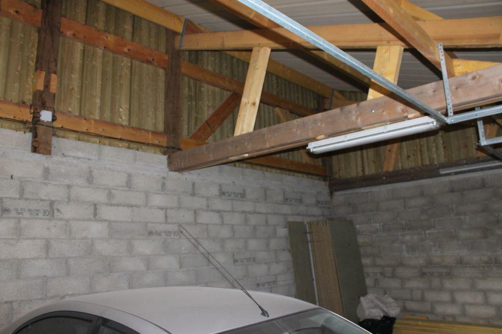 Charpente actuelle du Garage