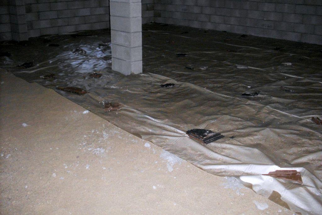 En cours de préparation de la dalle du sous sol.