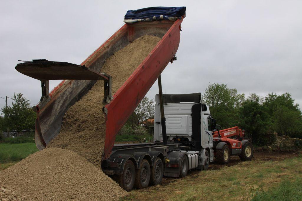 30 tonnes de graviers