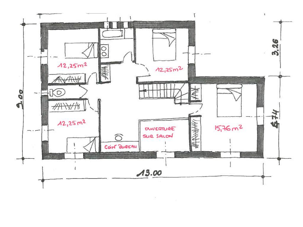 Demande d 39 avis pour le plan de notre maison de 160m2 74 for Plan chambre parentale 20m2
