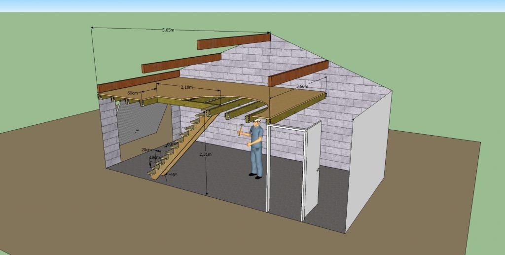 encore une demande pour une mezzanine avec des plans. Black Bedroom Furniture Sets. Home Design Ideas