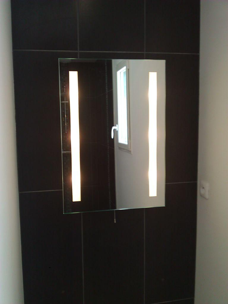 Meuble vasque miroir parquet pos alors cette - Parquet salle d eau ...