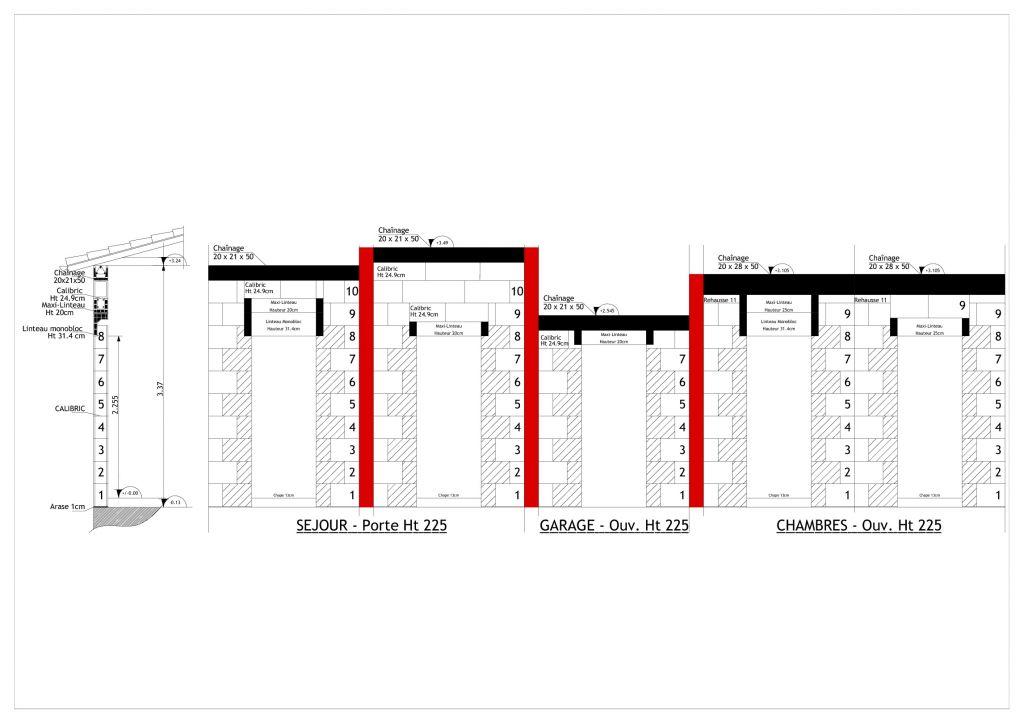 chainage horizontale avec diff rentes hauteurs de mur 8. Black Bedroom Furniture Sets. Home Design Ideas