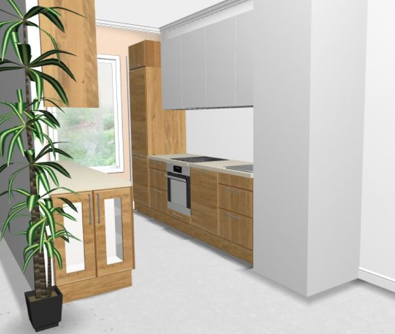 Vos avis sur ma cuisine couloir ikea abstrakt blanc norje 16 messages - Ikea cuisine abstrakt blanc ...