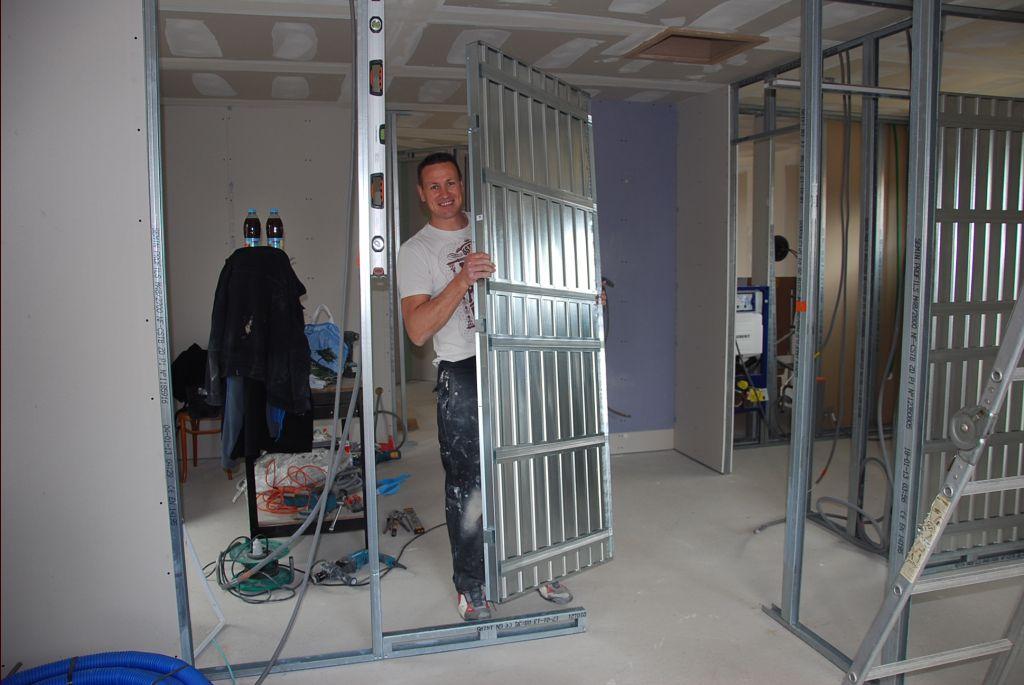 Adaptateur goutti re rectangulaire pose double ch ssis - Porte a galandage double ...