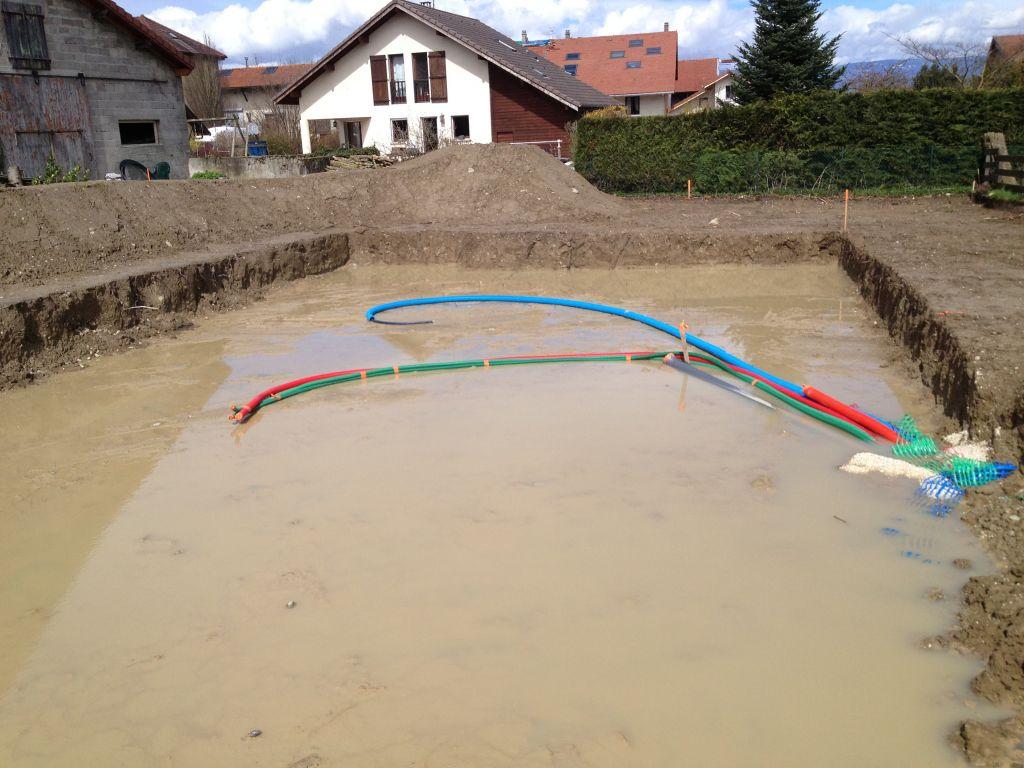 merci la pluie, belle piscine !!!