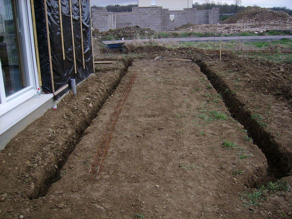 Fondation terrasse coté sud