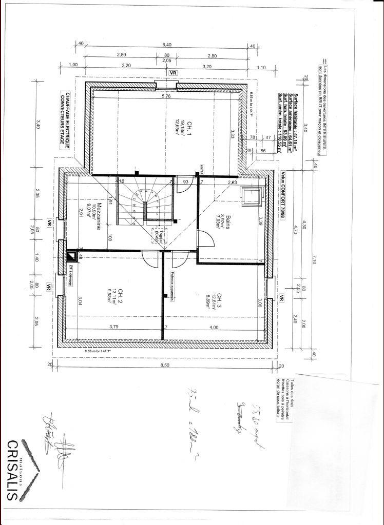 Plans de l'étage
