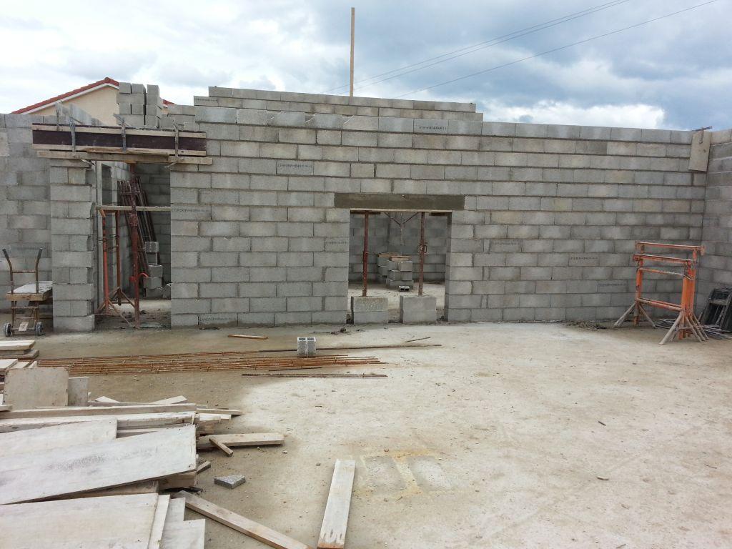 mur de refend en construction