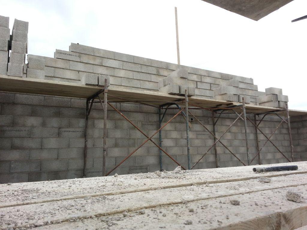 pignon en construction
