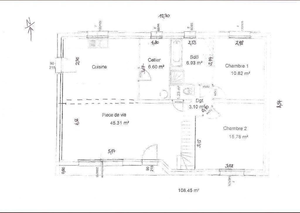 plan maison plain pied comble amenageable