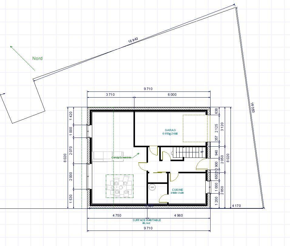 Votre avis pour une maison sur petit terrain triangulaire for Construire une maison plan