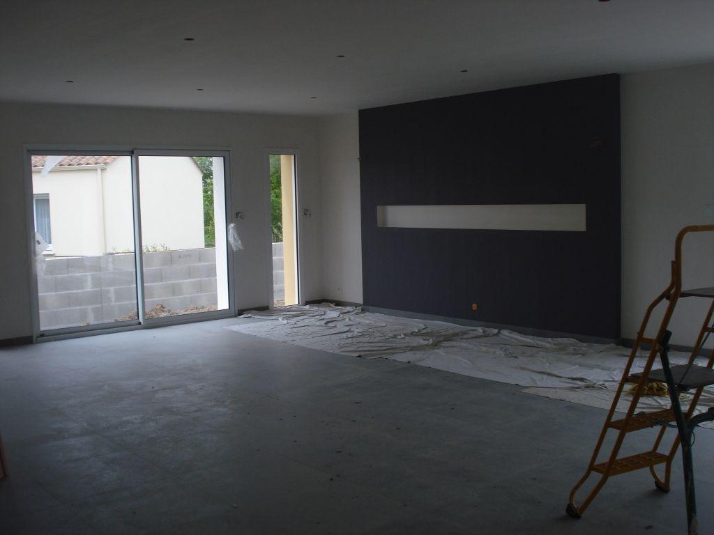enduit de finition avec bandeau en sur paisseur peinture. Black Bedroom Furniture Sets. Home Design Ideas