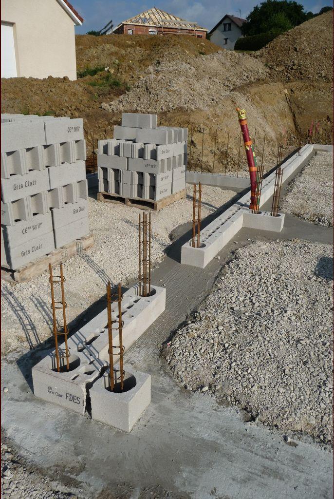fondations du mur Est