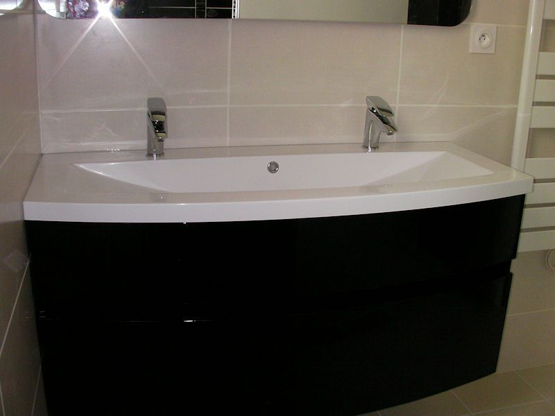 vasque 2 robinets 9 juin : sdb rdc finie «