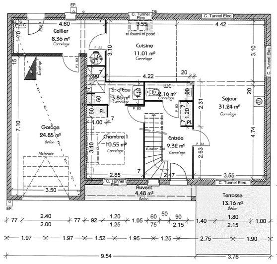 Plan maison plain pied 140m2 plan maison bois 5 chambres - Plan maison 140 m2 etage ...