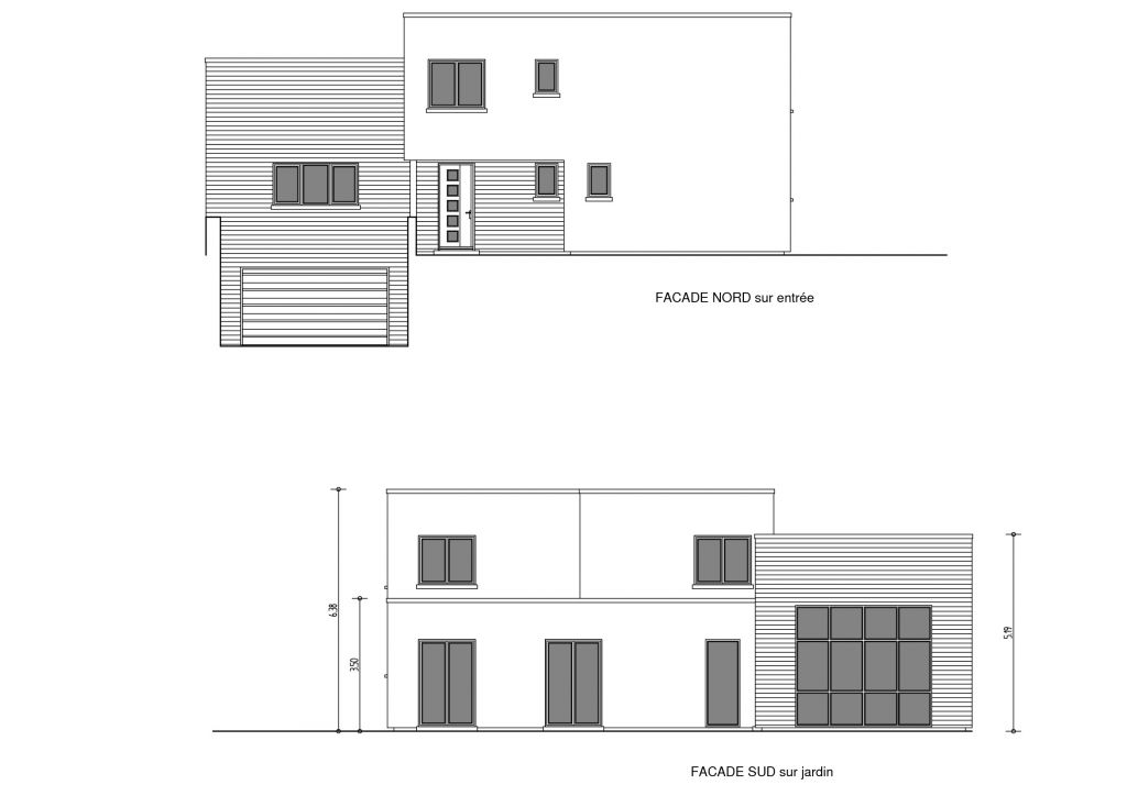 Plans de façade Nord / Sud